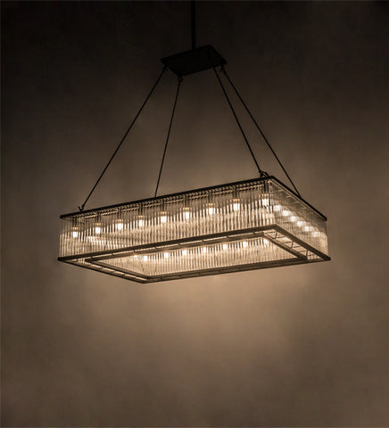 "60""L Marquee Oblong Glam Contemporary Pendant"