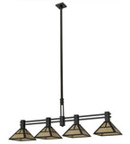 "64""L ""T"" Mission 4 Lt Kitchen Island Lighting"
