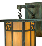 "9""W Hyde Park Sprig Outdoor Hanging Wall Sconce"