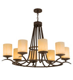 "48""W Octavia 8 Lt Oblong Contemporary Chandelier"