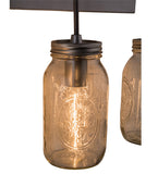 "18""W Mason Jar 3 Lt Arts & Crafts Vanity Light"