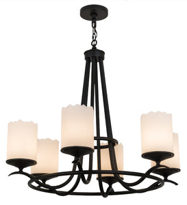 "36""W Octavia 6 Lt Contemporary Chandelier 