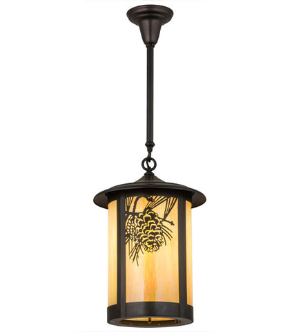 "12""W Fulton Winter Pine Outdoor Pendant"