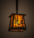 "7""Sq Tall Pines Outdoor Pendant"