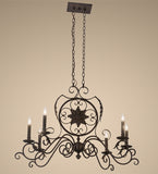 "36""L Christabel 6 Lt Oblong Victorian Chandelier"