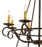 "60""W Estrella 24 Lt Three Tier Victorian Lodge Chandelier"
