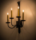 "16""W Primitive 4 Lt Rustic Wall Sconce"
