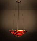 "18""W Metro Fusion Marina Contemporary Inverted Pendant"