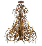 "60""W Serratina 32 Lt Victorian Chandelier 