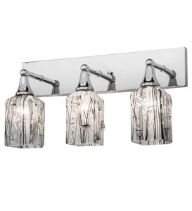 "24""W Metro Fusion Licorice 3 Lt Contemporary Vanity Light"