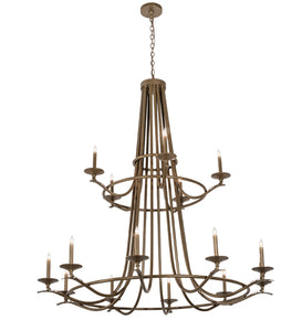 "60""W Octavia 15 Lt Two Tier Contemporary Chandelier"