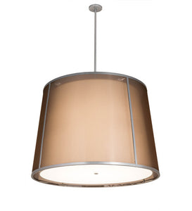 "42""W Contemporary Cilindro Textrene Tapered Pendant"