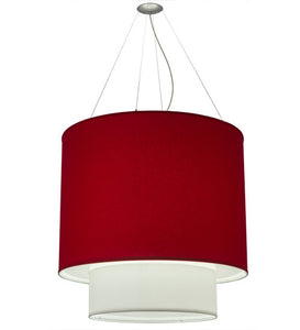"34""W Cilindro 2 Tier Textrene Contemporary Pendant"