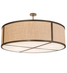 "54""W Cilindro Textrene Modern Pendant"