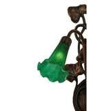 "11""W Green Pond Lily 2 Lt Wall Sconce"