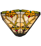 "16""W Middleton Victorian Stained Glass Wall Sconce"