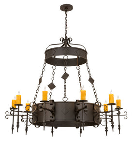 "54""W Diamante 10 Lt Gothic Chandelier"