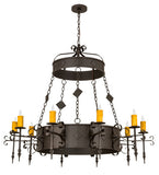 "54""W Diamante 10 Lt Chandelier"