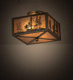 "10""Sq Tall Pines Flushmount"