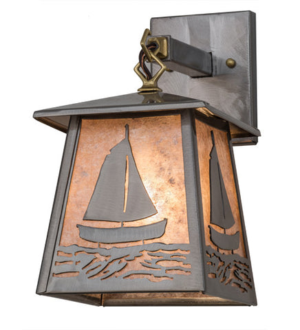 "7""W Sailboat Outdoor Wall Sconce"