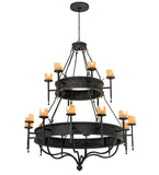 "60""W Gina 18 Lt Two Tier Gothic Chandelier"