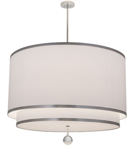 "48""W Cilindro 2 Tier Textrene Modern Pendant"