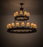 "51""W Sullivan Ranch 27 Lt Two Tier Southwest Chandelier"