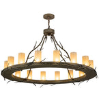 "48""W Loxley Branches 16 Lt Lodge Chandelier"