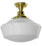 "16""W Revival Schoolhouse W/Traditional Globe Contemporary Flushmount"