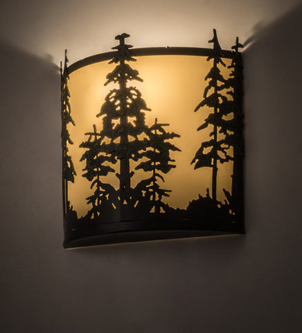 "12""W Tall Pines Wall Sconce"