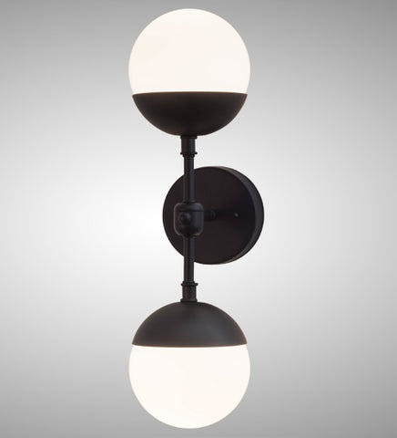 "6""W Bola Deux Contemporary Wall Sconce"