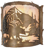 "15""W Bear Wall Sconce"