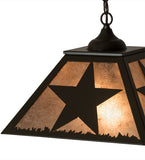 "16""Sq Texas Star Southwest Ceiling Pendant"