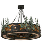 "45""W Twisted Moose Personalized Chandel-Air Fan"