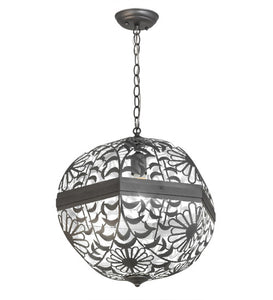 "18""W Bola Daisy Floral Contemporary Lodge Pendant"