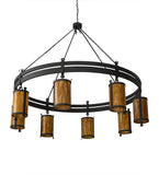 "84""W Beartooth 8 Lt Lodge Chandelier"
