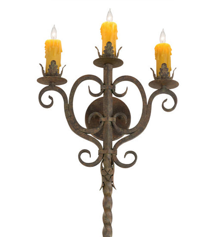 "16""W Palmira 3 Lt Gothic Wall Sconce"