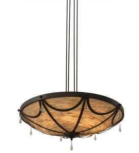 "42""W Carousel Contemporary Glam Inverted Pendant"