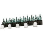 "48""W Lodge Tall Pines 5 Lt Vanity Light"