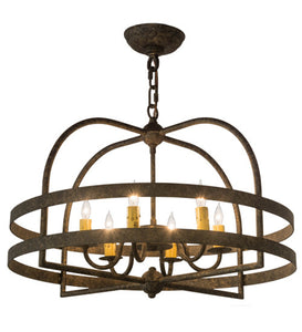 "22""W Aldari 6 Lt Contemporary Chandelier"