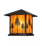 "17.5""Sq Great Pines Rustic Lodge Pier Mount"