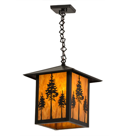 "12""Sq Seneca Great Pines Outdoor Pendant"