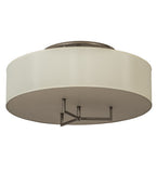 "30""W Cilindro Bahn Contemporary Fabric Flushmount"