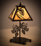 "15""H Whispering Pines Rustic Lodge Accent Lamp"