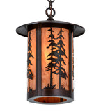 "10""W Fulton Great Pines Lodge Pendant"