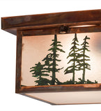 "10""Sq Hyde Park Tall Pines Lodge Flushmount"