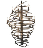 "24""W Cyclone 13 Lt Contemporary Chandelier"