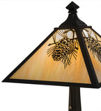 "23.5""H Winter Pine Rustic Lodge Table Lamp"