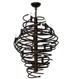 "20""W Cyclone Contemporary Chandelier"