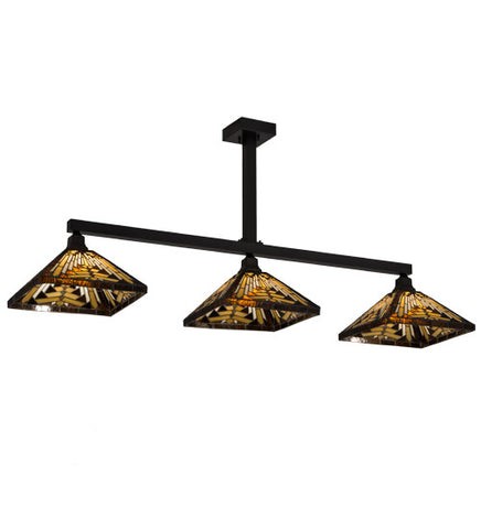 "64""L Nuevo Mission 3 Lt Kitchen Island Lighting"